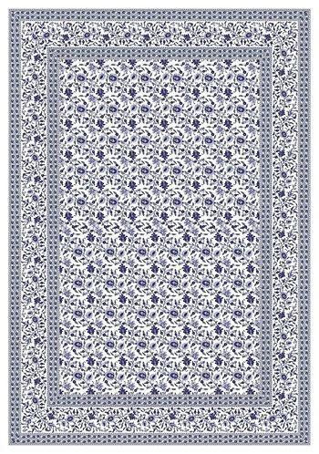 Mezzeria- Tovaglia copritutto fiori blu 180x260