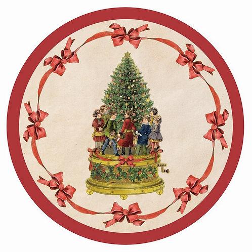 Vintage Christmas - Tappeto rotondo diam.100