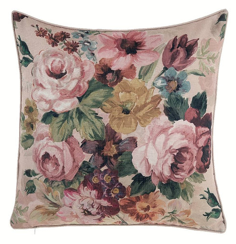 Antique Rose - Cuscino quadrato con rose
