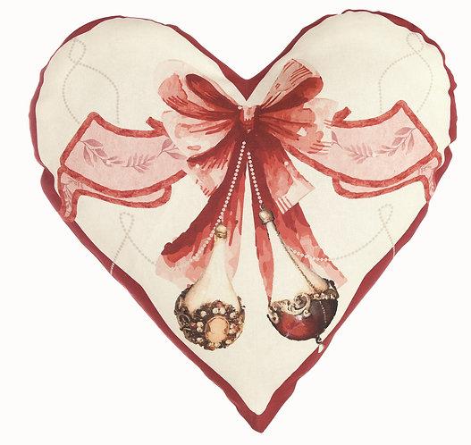 Perle di Natale - Cuscino cuore 60x60