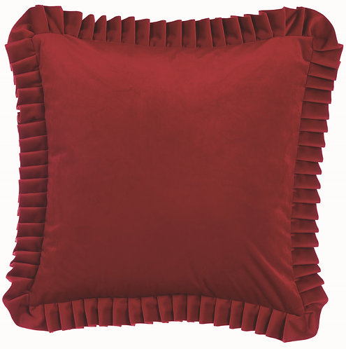 Velvet - Cuscino rosso velluto 50x50