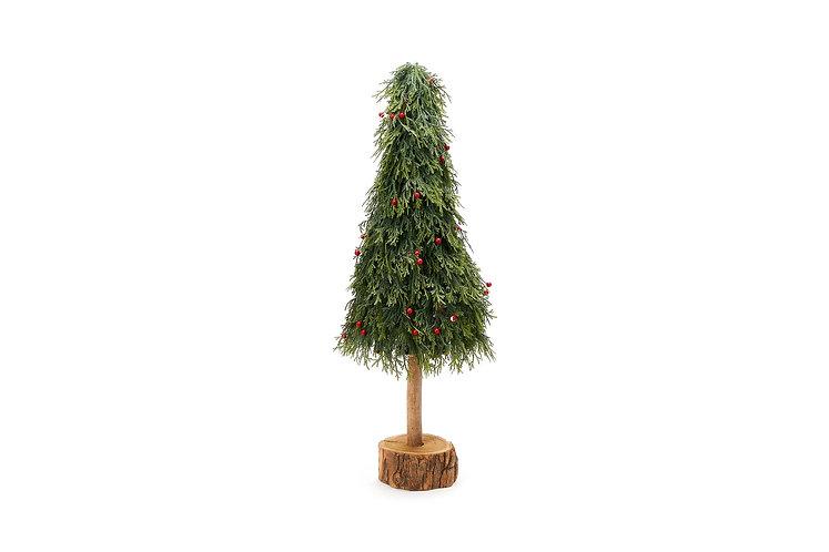 Verde - Albero pino con bacche 60h