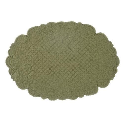 Lindsay - Tovaglietta ovale verde