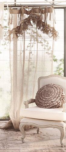 Ruffles - Tenda con rouches naturale 130x290