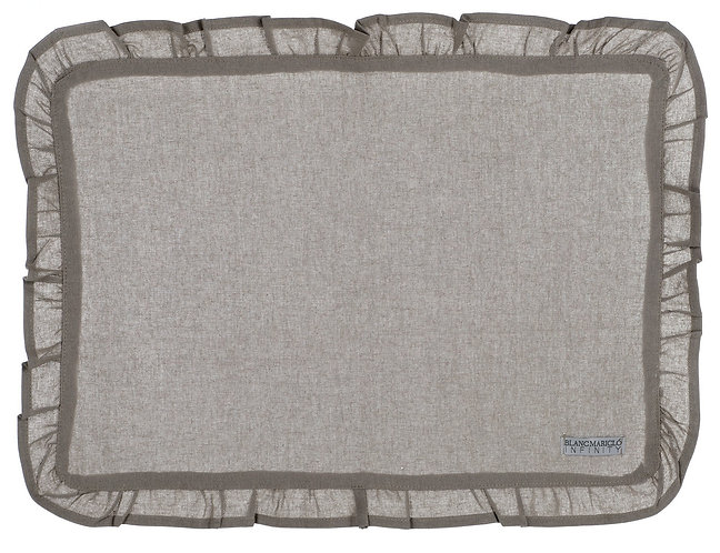 Infinity - Tovaglietta con galetta 35x48 grigia