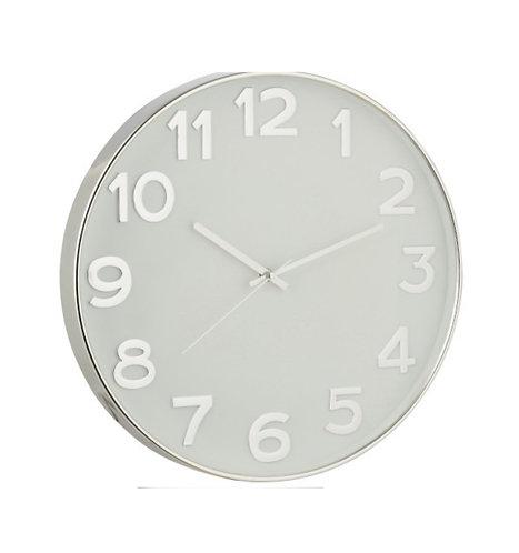 Nordic Home - Orologio bianco e argento 40cm.