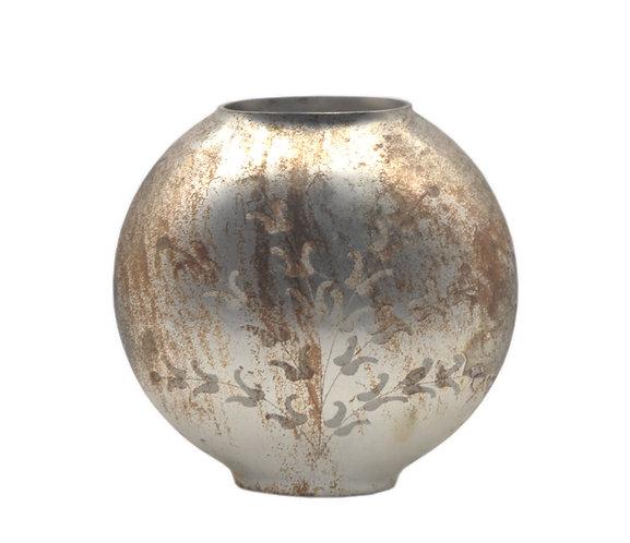 Laudomia - Vaso grande ovale oro con decori
