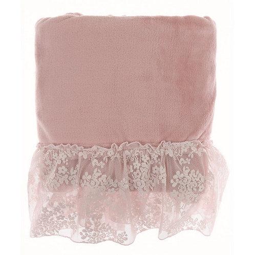 Romantic Lace - Plaid con pizzo rosa