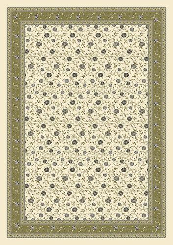 Mezzeri - Tovaglia copritutto fiori verde 180x260