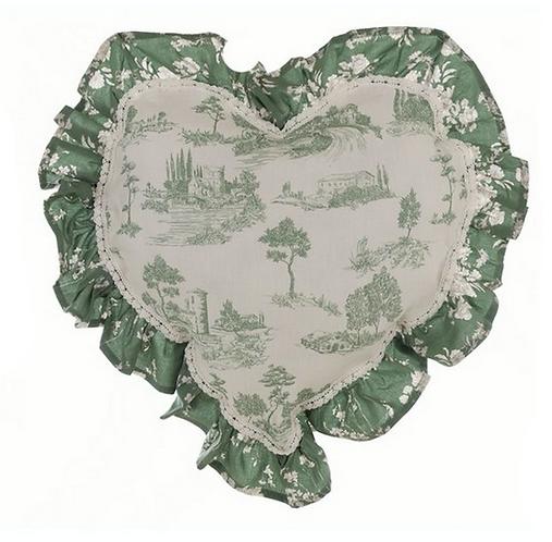 Lo Speziale - Cuscino cuore base toile de jouy