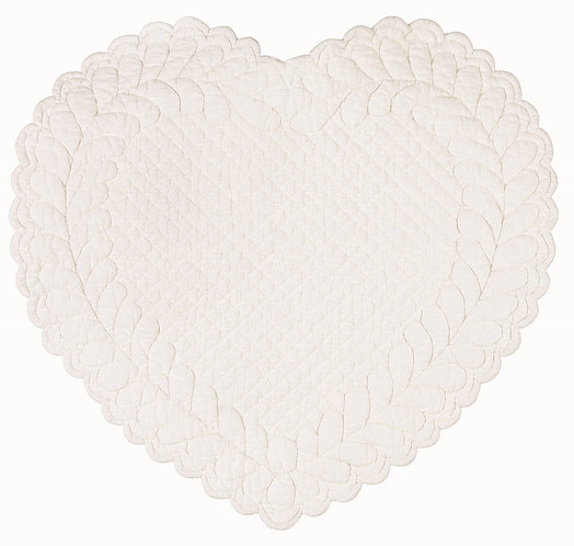 Amore - Tovaglietta cuore avorio