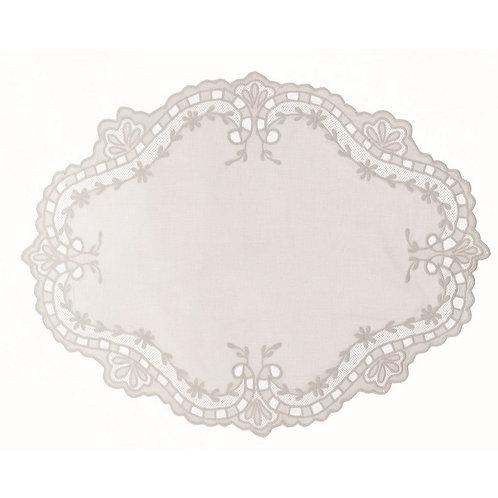 Tiepolo - Tovaglietta ovale bianca
