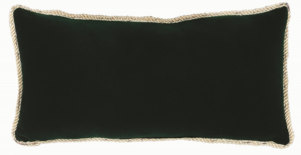 Happy Holidays - Cuscino velluto verde 40x20