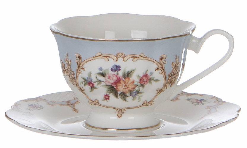 Porto Venere - Tazza da tè porcellana con piattino