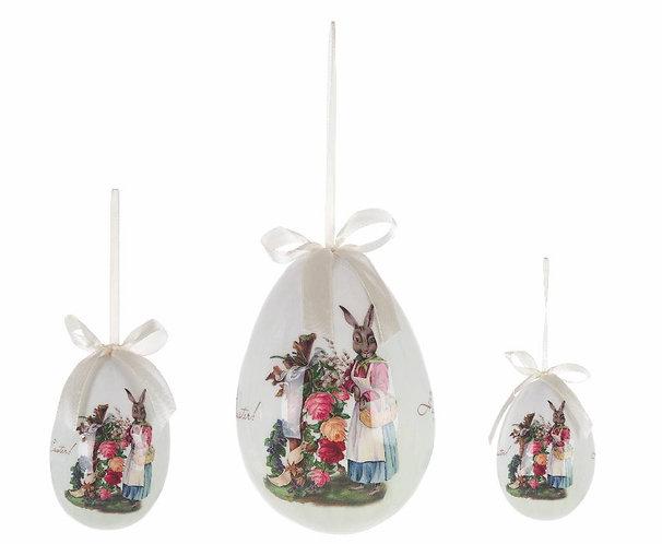 Easter Fantasy - Set 3 uova con coniglietti