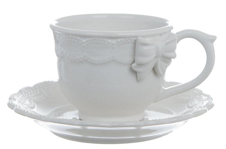 Sentimento - Tazza tè con piattino