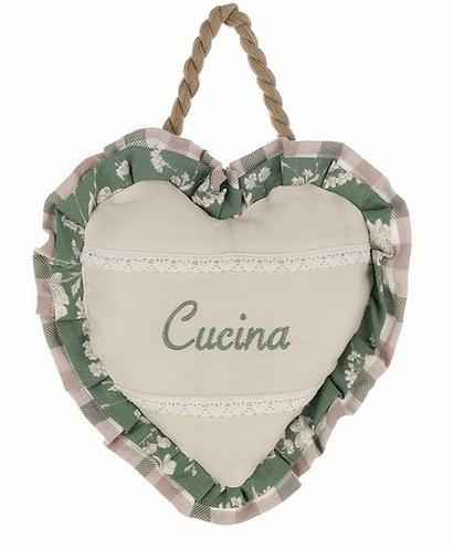 """Lo Speziale - Decoro cuore """"cucina"""""""