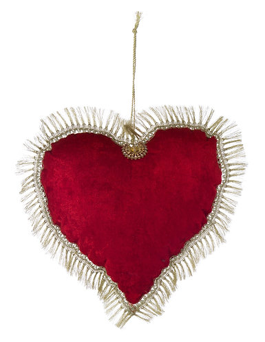 Merry Christmas - Cuore velluto 27x27