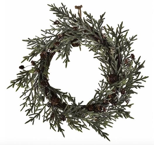 Winter Time - Ghirlanda Cedar con pigne 32cm.