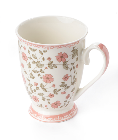 Sophie - Mug fiorellini base bianca