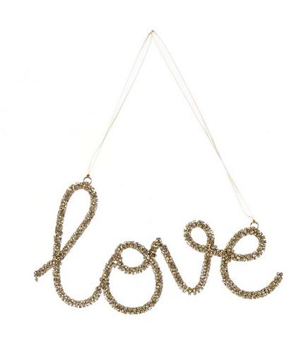 Love - Scritta con strass oro 13 h