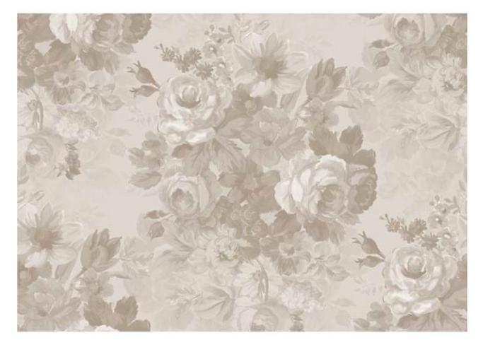 Alfresco - Tappeto fiori beige 100x132