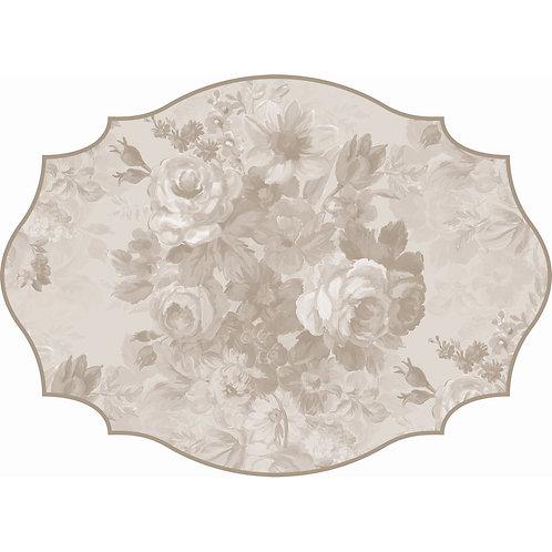 Affresco - Tovaglietta ovale in vinile