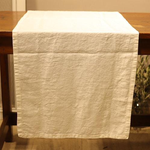 Pan di Lino - Runner color bianco 50x160