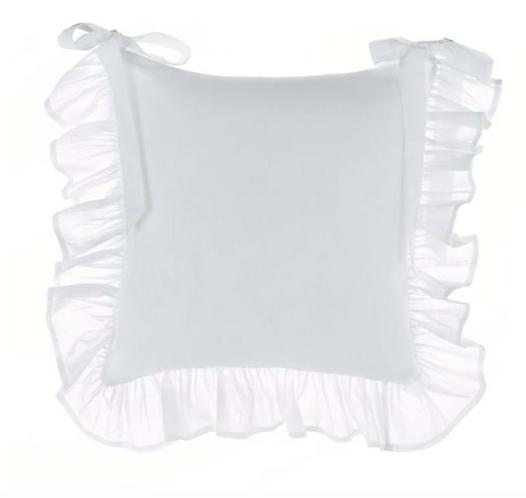 Frill - Copricuscino sedia Bianco
