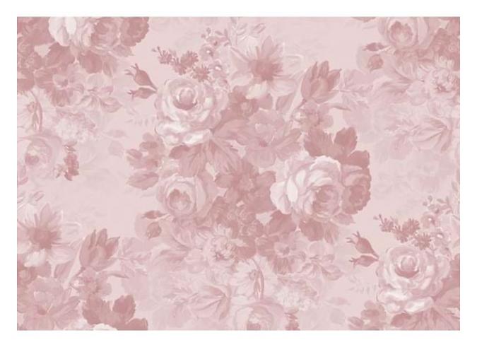 Affresco - Tappeto fiori rosa 154x220