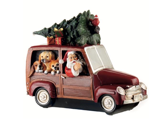 Santa Claus - Auto con albero e led 26h