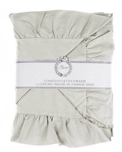 Iris beige - Completo letto 2p.