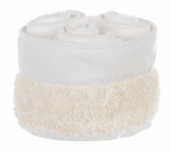 Parterre - Cestino bianco con 3 lavette