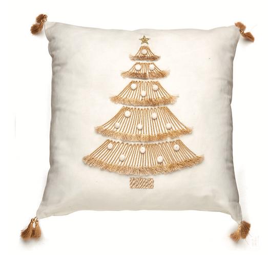 Preziosi Ricami - Cuscino con albero 45x45