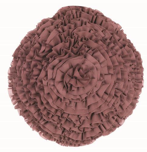 Rouches - Cuscino tondo rosa