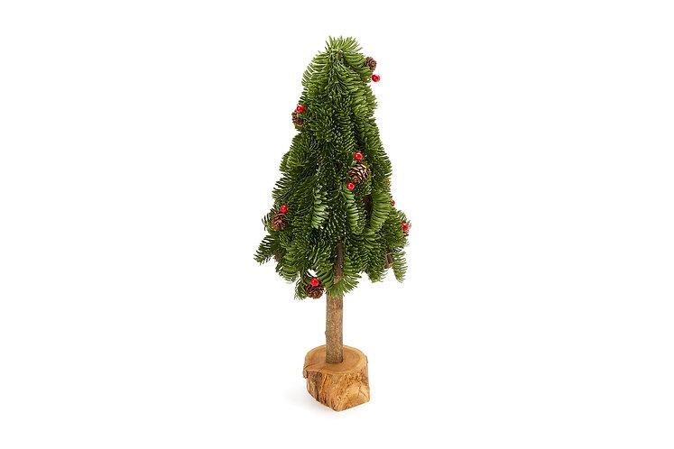 Verde - Albero pino con bacche 50h