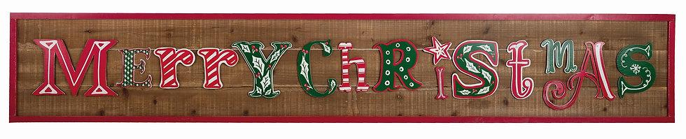 Christmas Retro - Insegna Merry Christmas 195cm.