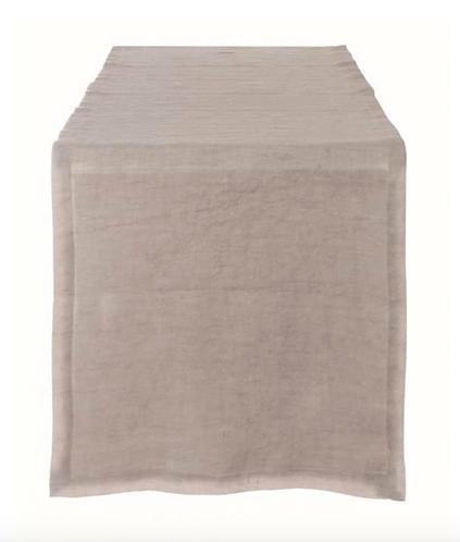 Washed Linen - Runner sabbia 40x140