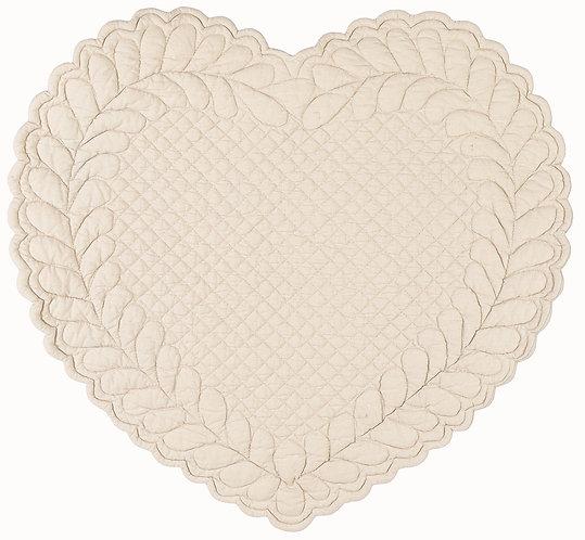 Amore - Tovaglietta cuore beige