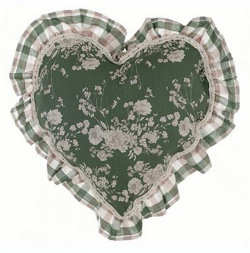 Lo Speziale - Cuscino cuore base floreale
