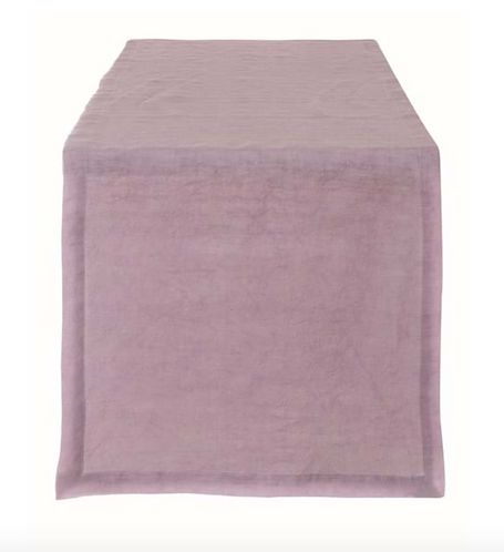 Washed Linen - Runner rosa 40x140