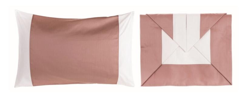 Federa Colorata - Completo letto matrimoniale cipria