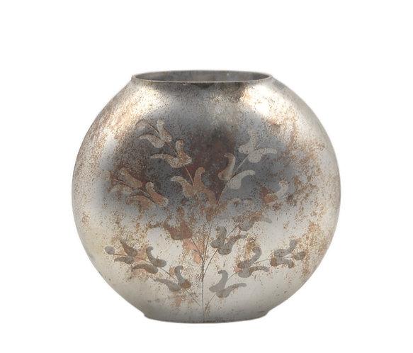 Laudomia - Vaso medio ovale oro con decori