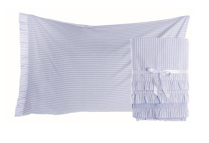 Gelateria - Completo letto singolo celeste
