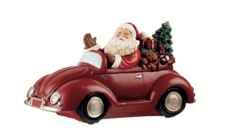 Santa Claus - Cabrio con led 16h