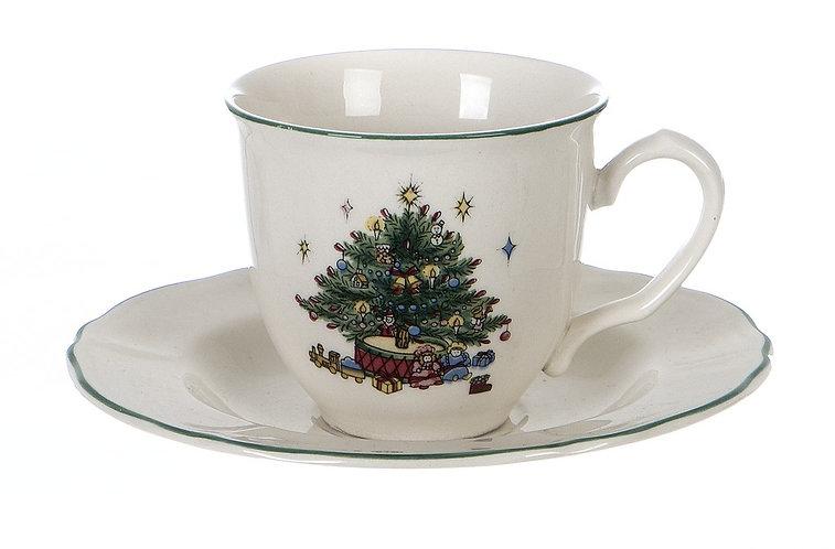 Canto di Natale - Tazza tè con piattino