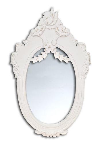 Specchio Blanc - Ovale bianco grande