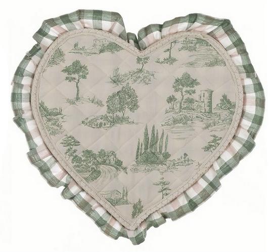Lo Speziale - Tovaglietta cuore base toile de jouy