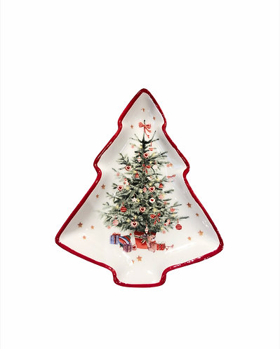 Noel - Piattino albero 16cm.