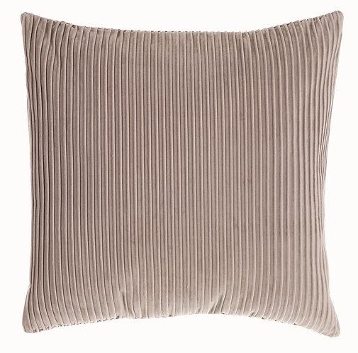 Velvet - Cuscino a coste grigio 50x50